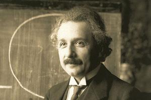 Is God Real - Albert Einstein 1921 by F Schmutzer - restoration